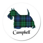 Terrier - Campbell Round Car Magnet