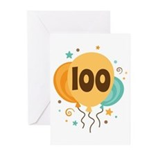 100th Birthday Party Greeting Cards (Pk of 20)