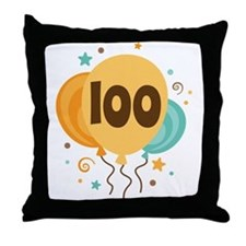 100th Birthday Party Throw Pillow