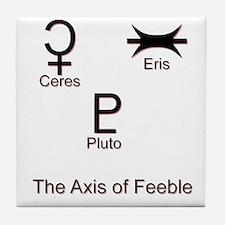 Axis of Feeble Tile Coaster