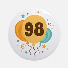98th Birthday Party Ornament (Round)