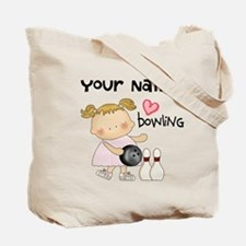 Personalized Girl Bowling Tote Bag