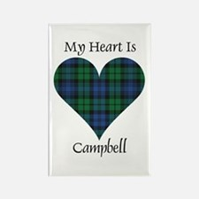 Heart - Campbell Rectangle Magnet