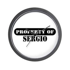 Property of Sergio Wall Clock