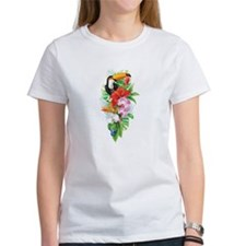 Tropical Toucan Collage (right) Tee