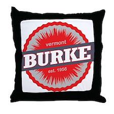 Burke Mountain Ski Resort Vermont Red Throw Pillow