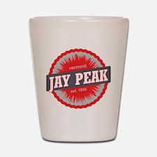 Jay Peak Ski Resort Vermont Red Shot Glass