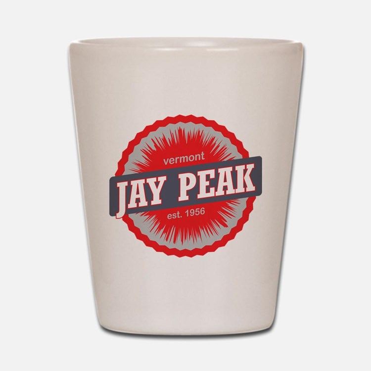 Jay Peak Ski Resort Vermont Red Shot Glass
