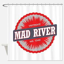 Mad River Glen Ski Resort Vermont Red Shower Curta