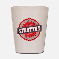 Stratton Mountain Ski Resort Vermont Red Shot Glas