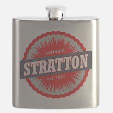 Stratton Mountain Ski Resort Vermont Red Flask