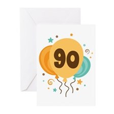 90th Birthday Party Greeting Cards (Pk of 20)