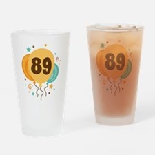 89th Birthday Party Drinking Glass