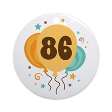 86th Birthday Party Ornament (Round)