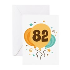 82nd Birthday Party Greeting Cards (Pk of 20)