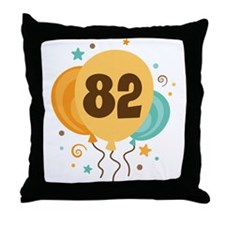 82nd Birthday Party Throw Pillow