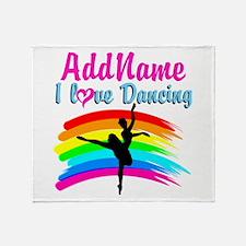 DANCING GIRL Throw Blanket