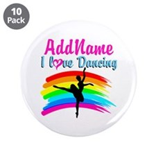 """DANCING GIRL 3.5"""" Button (10 pack)"""