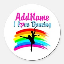DANCING GIRL Round Car Magnet