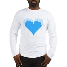 Snow Capped Heart Long Sleeve T-Shirt