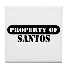 Property of Santos Tile Coaster