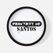 Property of Santos Wall Clock