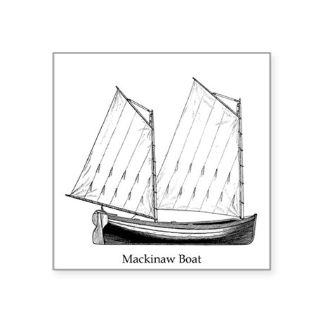 Great Lakes Mackinaw Boat Sticker