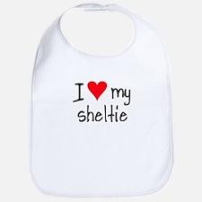 I LOVE MY Sheltie Bib