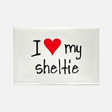I LOVE MY Sheltie Rectangle Magnet (10 pack)