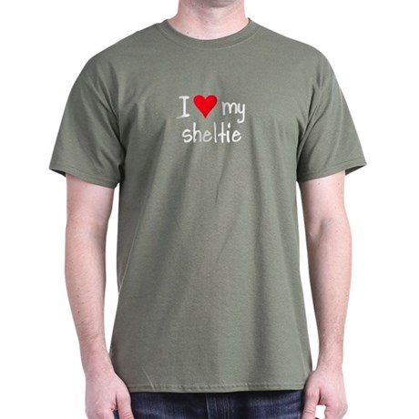 I LOVE MY Sheltie Dark T-Shirt