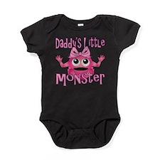 Girl Daddys Little Monster Baby Bodysuit