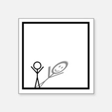 "Stickman Square Sticker 3"" x 3"""