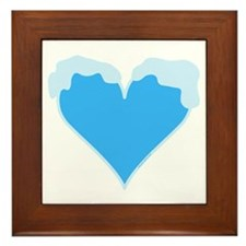 Snow Capped Heart Framed Tile