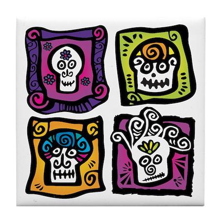 Day of the Dead / Sugar Skulls Tile Coaster