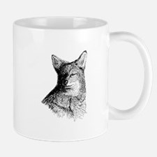 Coyote (line art) Mugs