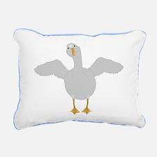 Goose Who Rectangular Canvas Pillow