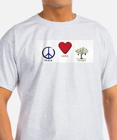Peace Love Story T-Shirt