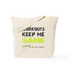 Keep Me Sane White Tote Bag