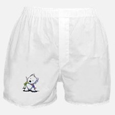 KiniArt Playful Westie Boxer Shorts