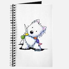 KiniArt Playful Westie Journal