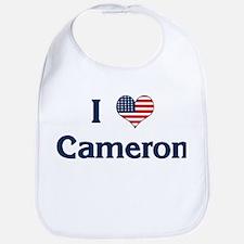 I Love Cameron Bib