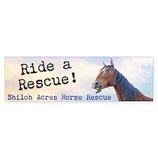 'Ride a Rescue' Bumper Sticker