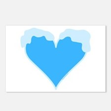 Snow Capped Heart Postcards (Package of 8)