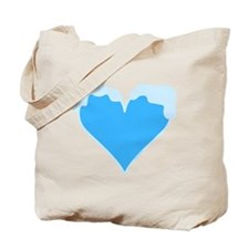 Snow Capped Heart Tote Bag