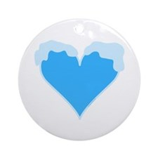 Snow Capped Heart Ornament (Round)