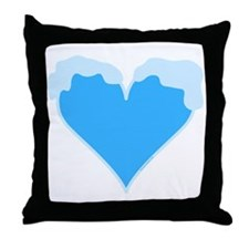 Snow Capped Heart Throw Pillow
