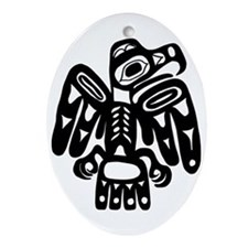 AbOriginalz Tribal Eagle Oval Ornament