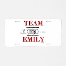 Team Emily Aluminum License Plate