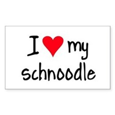 I LOVE MY Schnoodle Decal