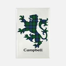 Lion - Campbell Rectangle Magnet